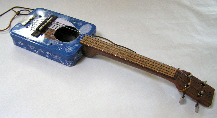 how to make a tin can guitar